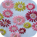 Cross Stitch Flower icon