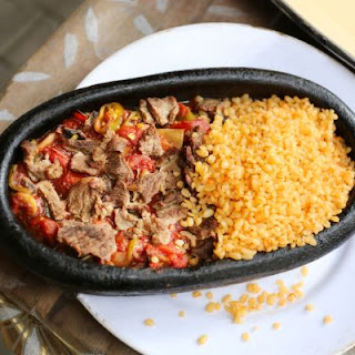 Bell Pepper Beef And Rice Skillet