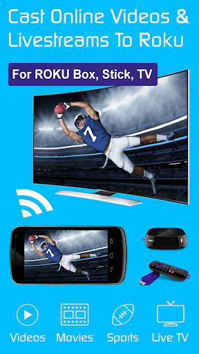 Video & TV Cast + Roku Remote & Movie Stream App  screenshots 1
