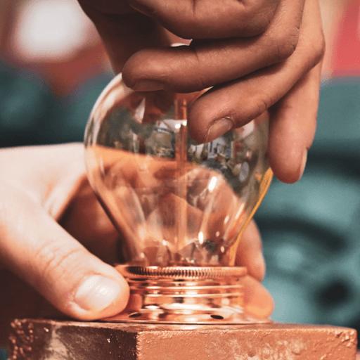 lampe béton française avec ampoule made in France