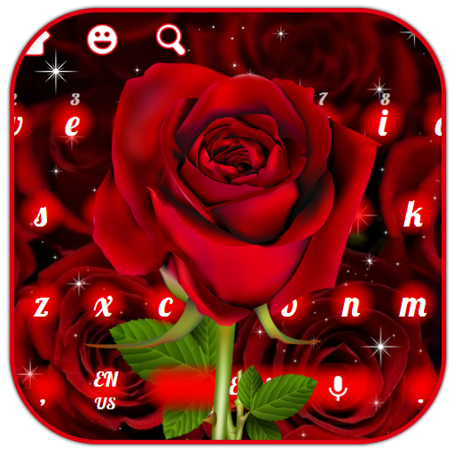 Beautiful Shiny Red Roses Keyboard