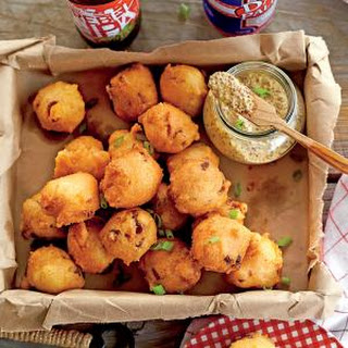 Crispy Andouille Hush Puppies