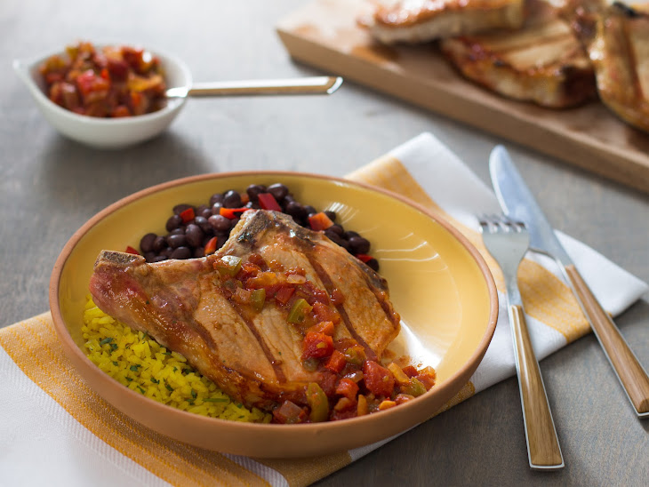 Saucy Salsa Ribeye Bone-in Pork Chops Recipe