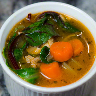 Chicken Soup with Greens and Garlic