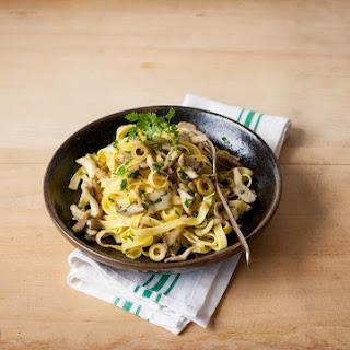Olive And Mushroom Tagliatelle