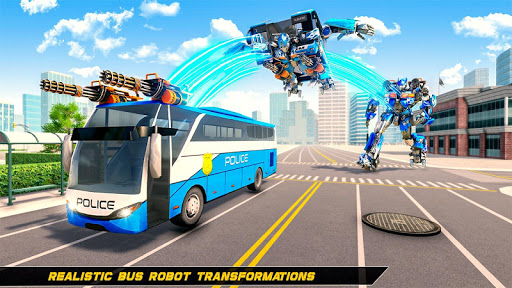Bus Robot Car Transform War –Police Robot games apktreat screenshots 1