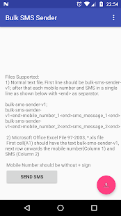 Bulk SMS Sender- screenshot thumbnail