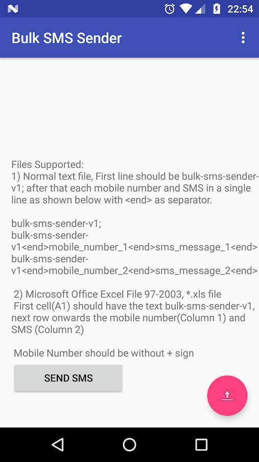 Bulk SMS Sender- screenshot