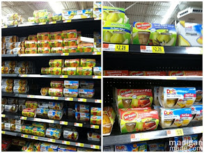Photo: The selection of fruit cups and snacks at Walmart was huge! I am a member of the Collective Bias® Social Fabric® Community.  This content has been compensated as part of a social shopper insights study for Collective Bias™. and Del Monte #CBias #SocialFabric #SmartSnack