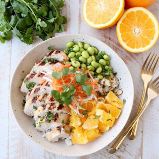 Healthy Asian Chicken Rice Bowls.