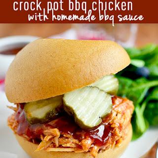 Crock Pot BBQ Chicken with Homemade BBQ Sauce