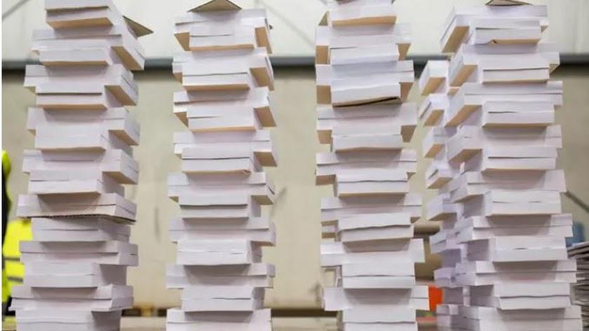 Papeletas destinadas a la jornada electoral de este 4 de mayo.