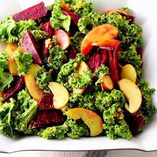 Kale and Apple Salad with Beets and Walnuts Recipe