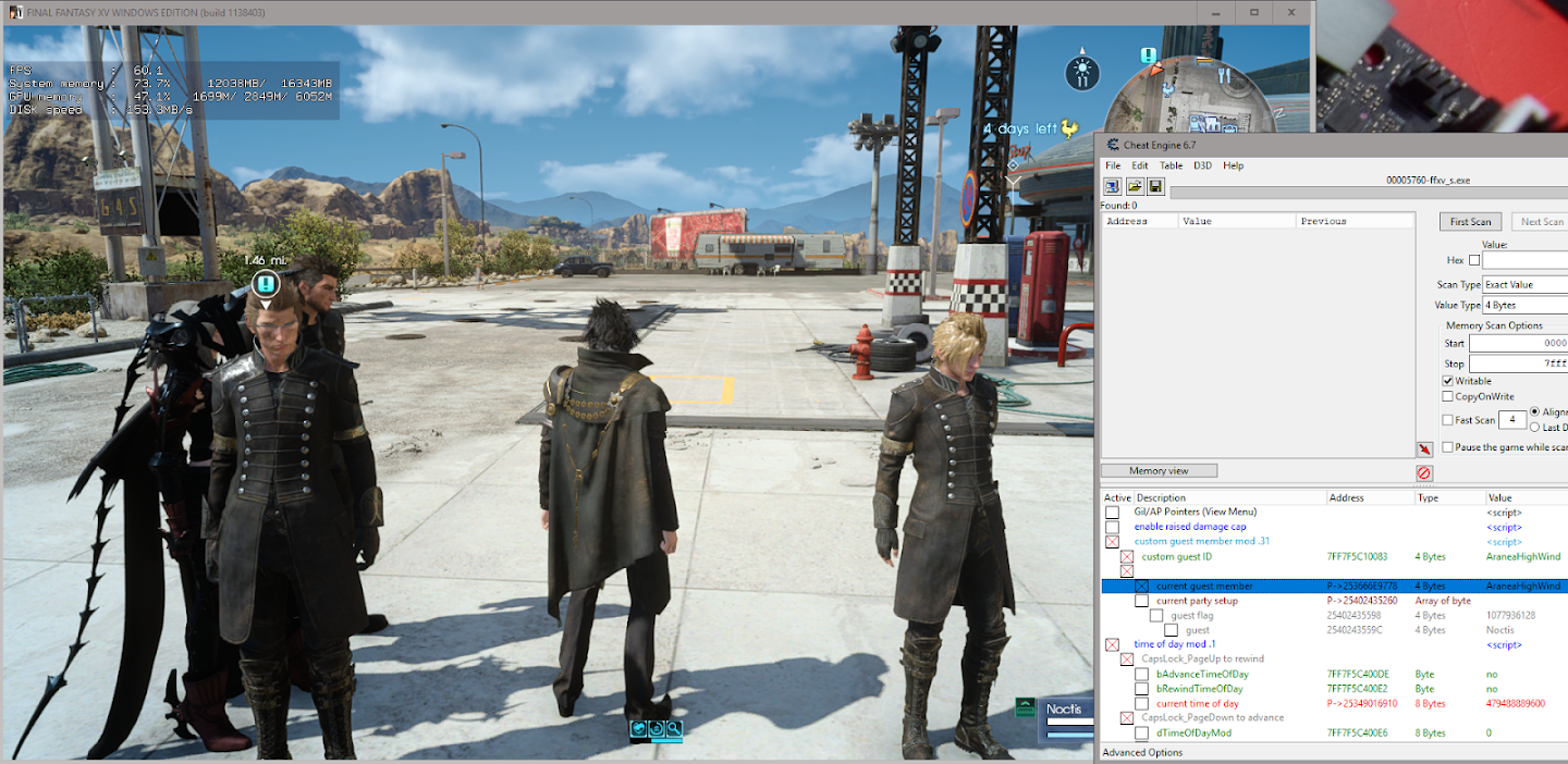 Final Fantasy XV (CODEX) - Page 6 - FearLess Cheat Engine