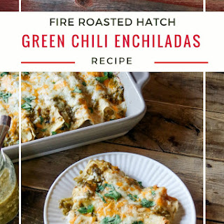 Hatch Green Chili Chicken Enchiladas.