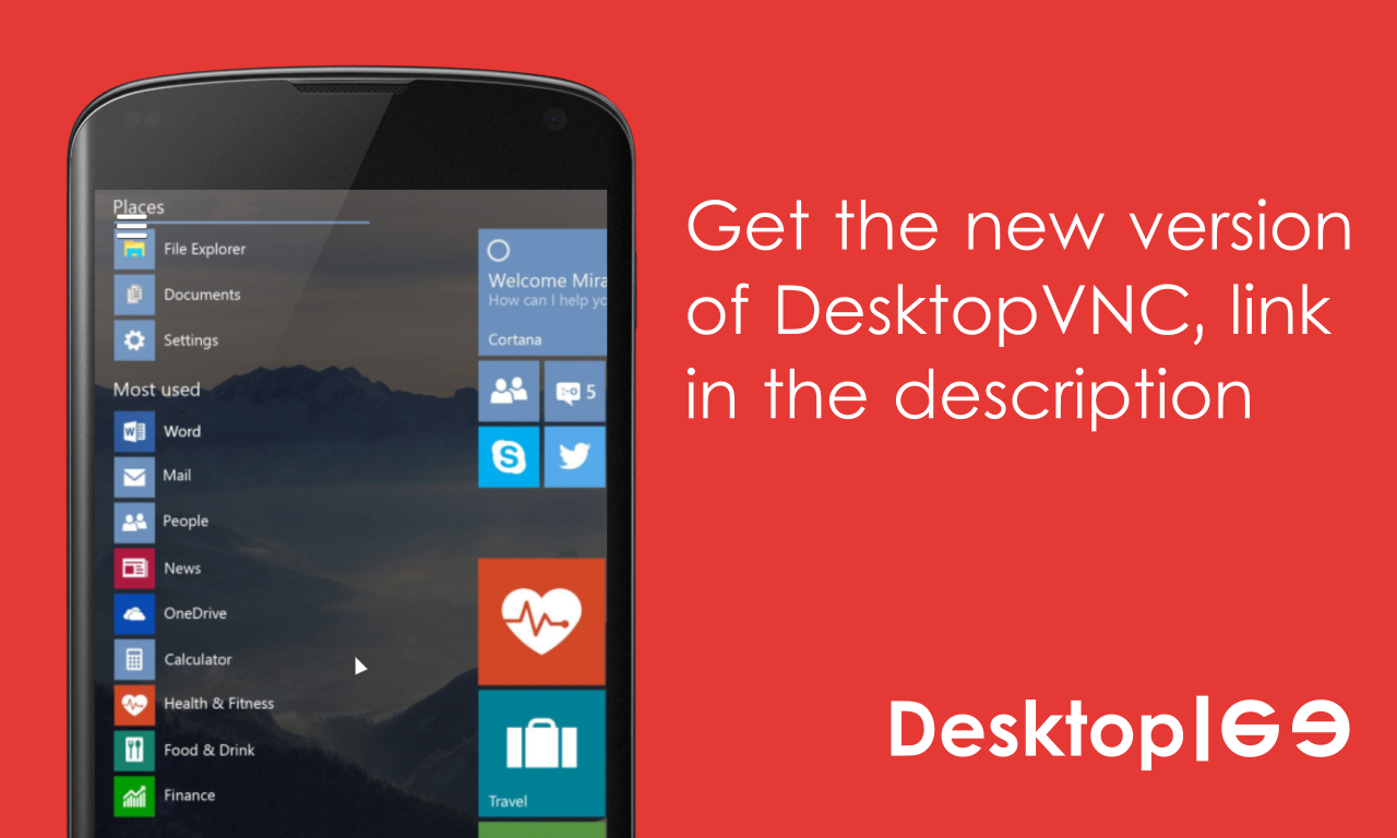 Desktop VNC- screenshot