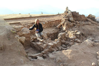 Photo: Posing with my handy work at the end of crew chiefing my first season at Hualcayan. A mound complex located in the north central highlands of Peru.