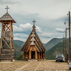 by Mario Horvat - City,  Street & Park  Street Scenes ( car, srbija, church, mečavnik, serbia, street, oldtimer, drvengrad )