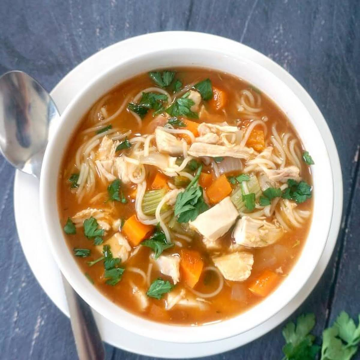 Leftover Roast Chicken and Noodle Soup