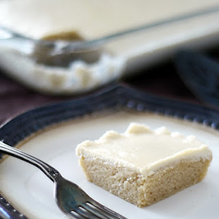 Gluten-Free Vegan White Texas Sheet Cake {Refined Sugar-Free}