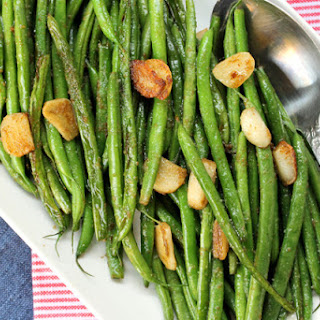 Garlic Wasabi and Sage Green Beans