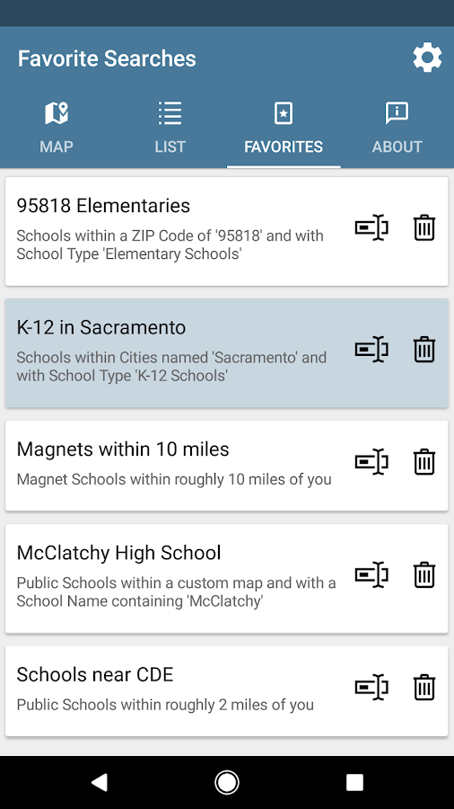 CA Schools- screenshot