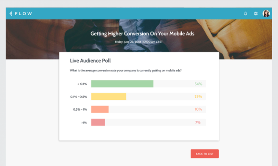 Flow's Live Audience Polling