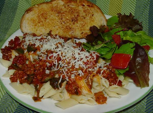 Pam's Easy Mini Penne With Meat Sauce