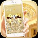 Luxury Gold Bow Diamond Theme icon