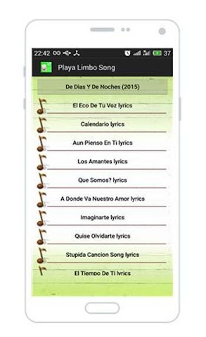 android All Songs of Playa Limbo Screenshot 1