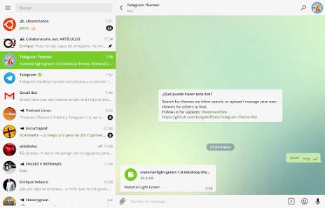 Telegram 1.0. Mucho mas que una aplicación de mensajería. Ejemplo 3.