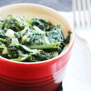 Coconut Milk Creamed Spinach.