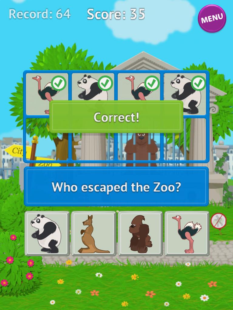 Скриншот Побег Зоопарка  - Android Wear