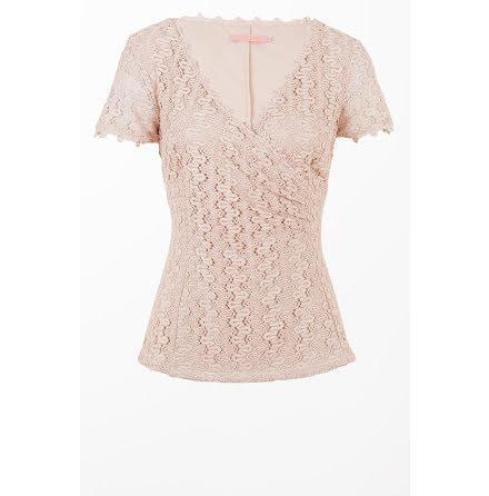 Crochet Lace Top Powder Pink - Pernilla Wahlgren