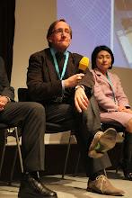 "Photo: Final panel discussion - ""Communicating Science & Innovations""- 2012: J. Gillies, H. Yokoyama"