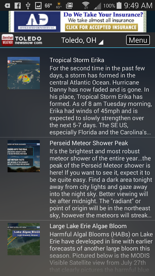 StormTrack Weather for Toledo- screenshot