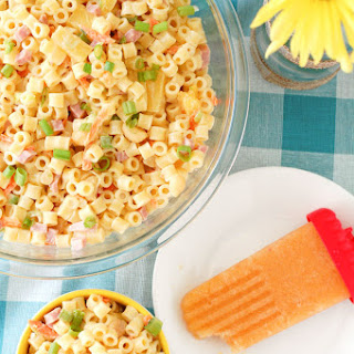 Hawaiian pasta salad and Sweet Tea Peach Popsicles