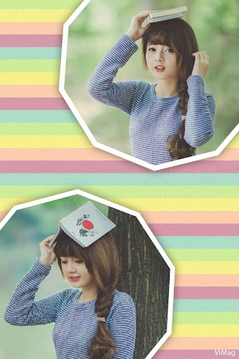 Edit Photo With Grid Pattern