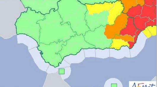 Aviso rojo en el norte y el este de la provincia de Almería.
