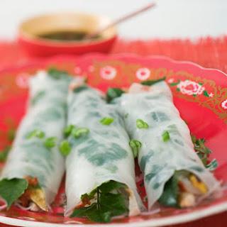 Vegan Thai Style Spring Rolls.