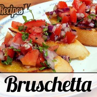 Bruschetta (Tasty Italian Appetizer).