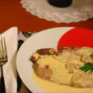 Chops with Mushrooms.