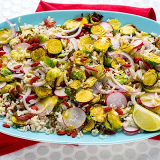 Brussels Sprouts & Brown Rice Salad (Delicious Nutritious Side Dish!) Recipe
