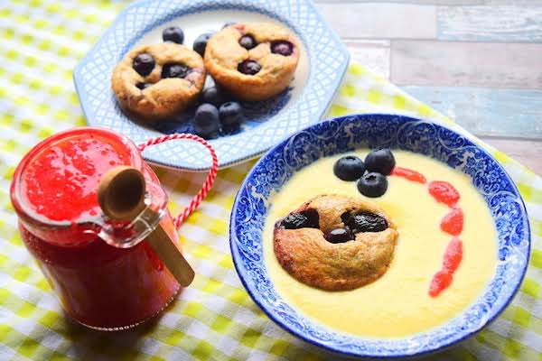Blueberry Pudding, Jam & Custard Recipe