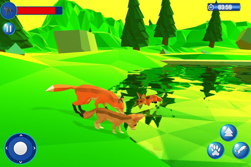Fox Simulator Poly Art Adventure game (apk) free download for