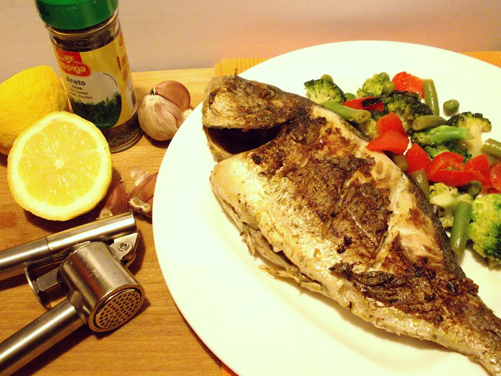 Grilled Sea Bream With Sauteed Vegetables
