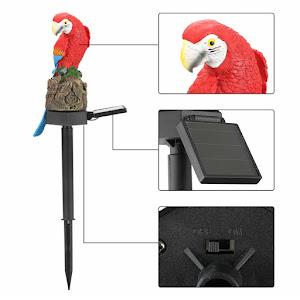 Lampa solara de gradina, decoratiune papagal