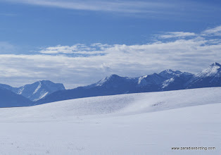Photo: The snowy Wallowa hills looking approx. southeasterly into the Wallowa Moutnains
