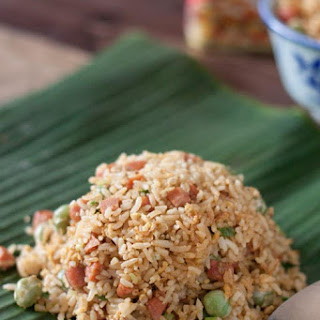 Fried Rice With Spam and Parboiled Rice