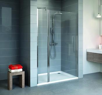 Porte de douche pivotante sur élément fixe, 90, 100 ou 120 cm